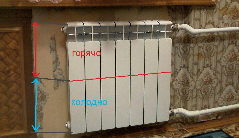 радиатор греет только сверху что делать