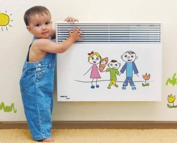 Такие обогреватели безопасны, и их можно ставить в детских комнатах.