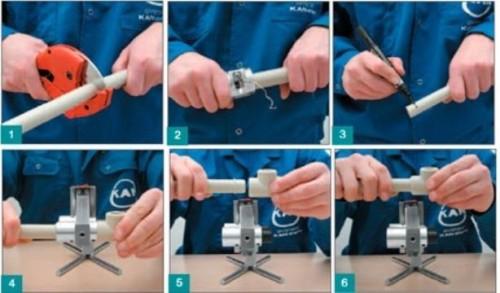 Технология пайки пластиковых труб при их монтаже в системе обогрева