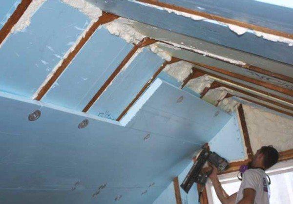 Теплоизоляция крыши экструзионным пенополистиролом