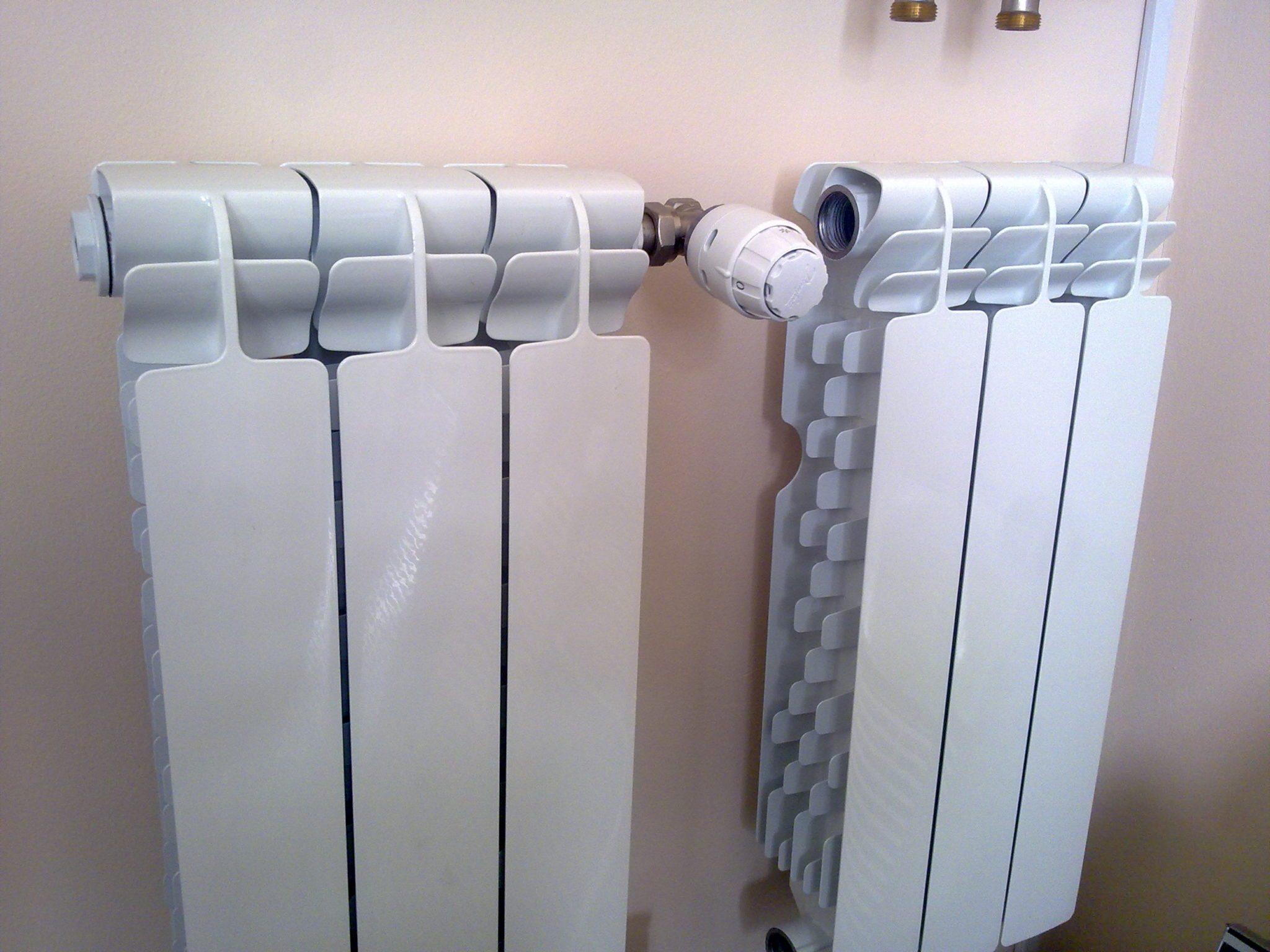 схема соединения двух отопительных радиаторов