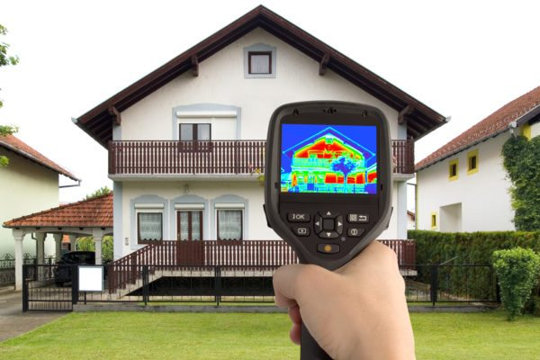 Тепловизор показывает утечки тепла.