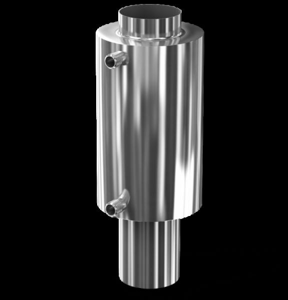 Труба на дымоходе для нагрева пара или воды 2 в 1.