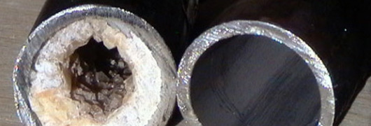Трубы могут быть забиты отложениями.