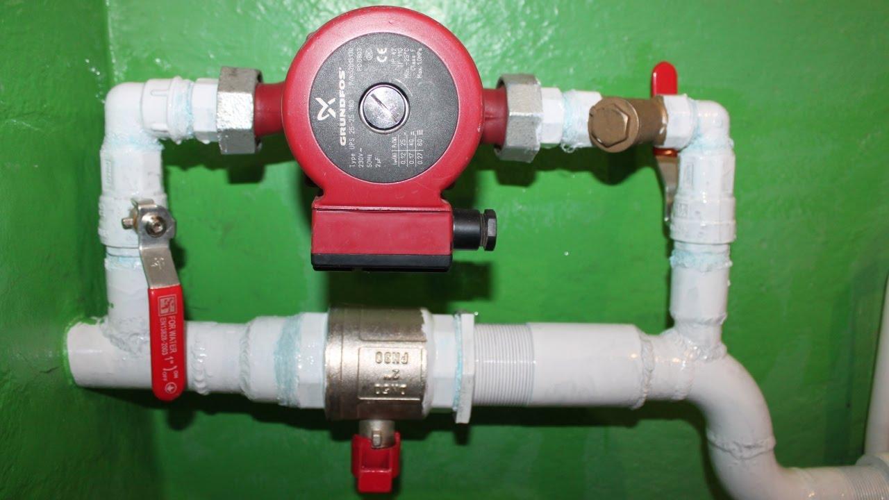 движение воды отопления в батареи схема