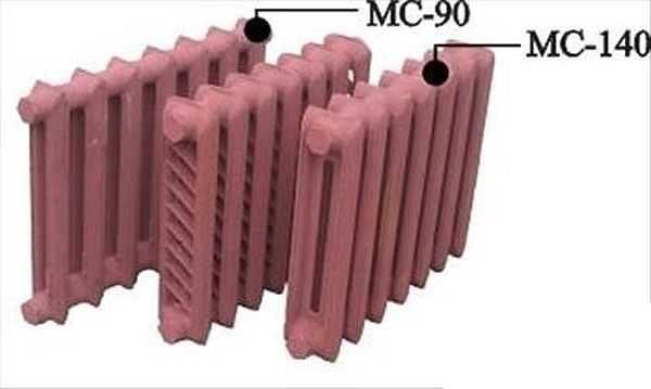 У моделей МС-90 и МС-140 разница заключается в меньшей глубине секции.