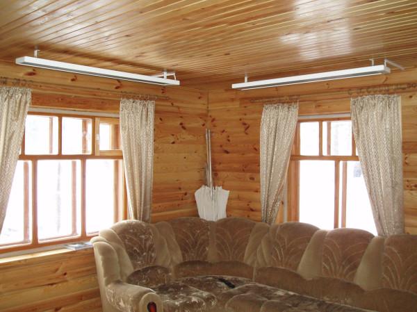 Ультракрасные потолочные обогреватели на даче