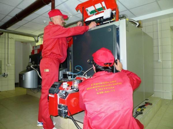 Установка твердотопливного генератора теплоты промышленного типа