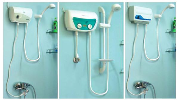 Установленный проточный водонагреватель