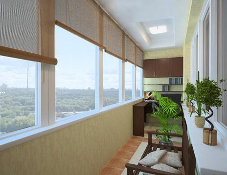 Утепленный балкон с отопительной системой
