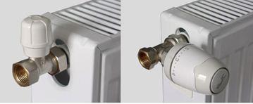 Внешнее отличие ручных и автоматических регуляторов температуры