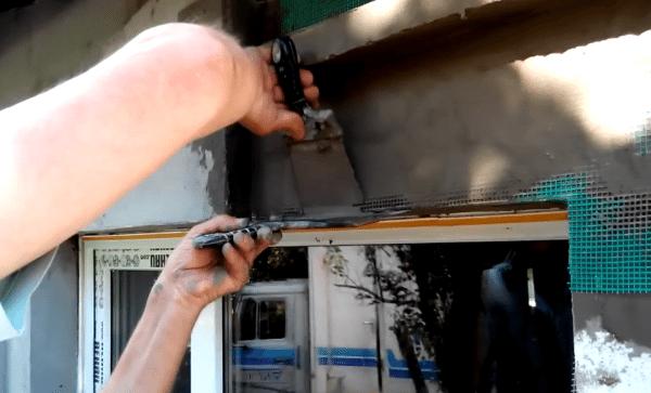 Выравнивание сетки на углу