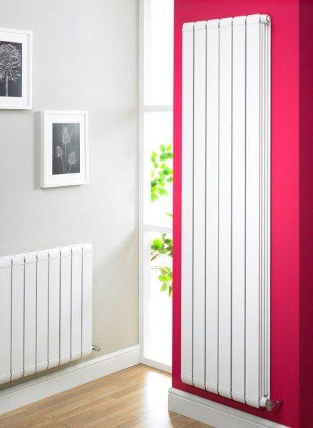 Высокий алюминиевый радиатор: максимум тепла при минимальной ширине.