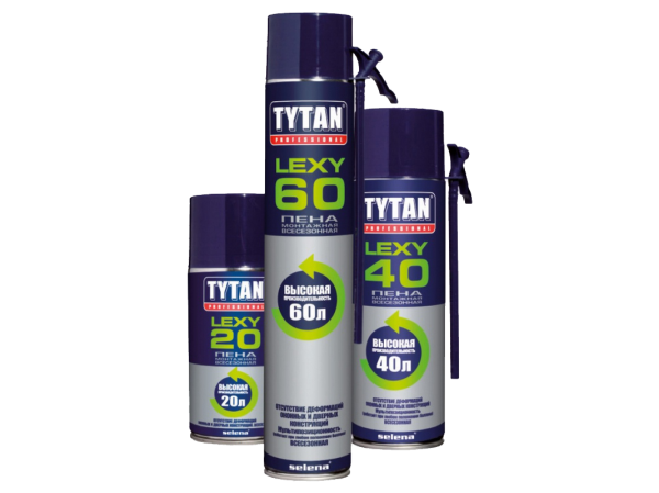 Я использую пену бренда «Титан»