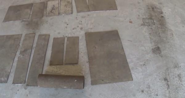 Заготовки, нарезанные в соответствии с предложенной схемой