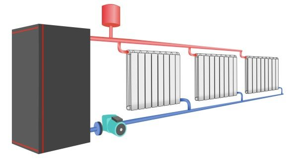 Закрытая автономная система с мембранным бачком и без врезок ГВС.