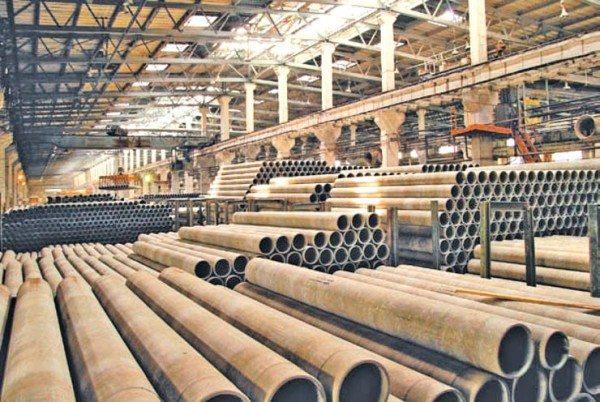 Завод по производству труб из асбеста.